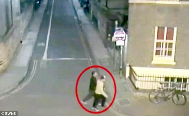 In the second clip shown to the jury, the two defendants were seen walking through the city after the alleged attack - this recording was taken two and half hours later, at 3.45am on October 26