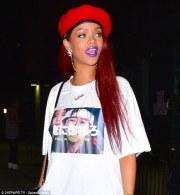 rihanna wears statement t-shirt
