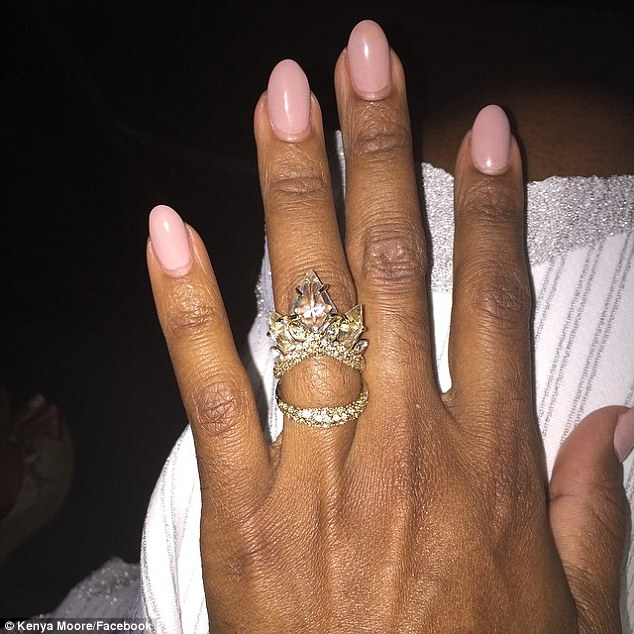 Vegas mystery: Moore shared this snap of a large ring on her ring finger during a trip to Las Vegas May 1 with Freeman, who owns a commercial real estate firm