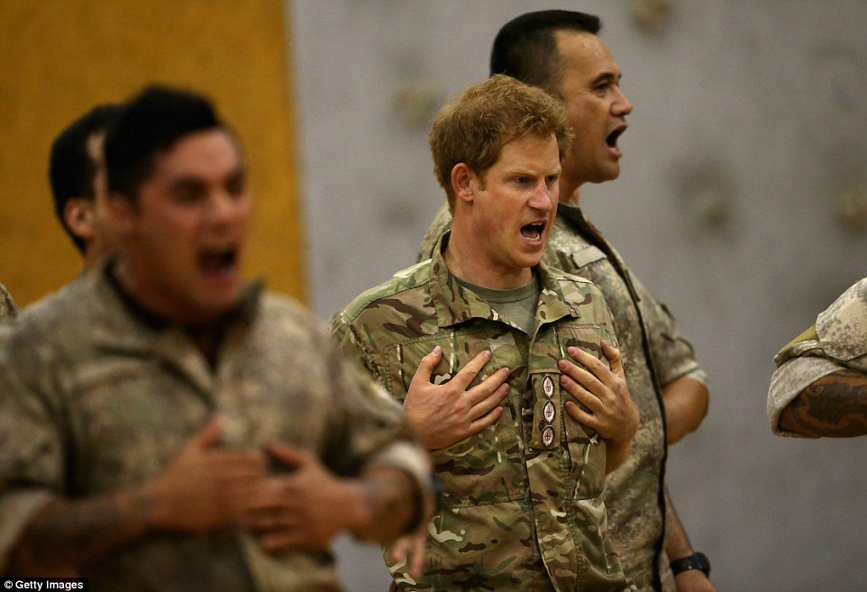 The haka is aMāori war dance, which used to be performed to scare away opponents on the battlefield
