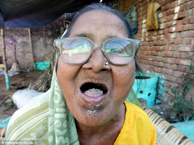 Sudama Devi first ate sand for a bet with friends when she was aged just ten and now eats a kilogram a day