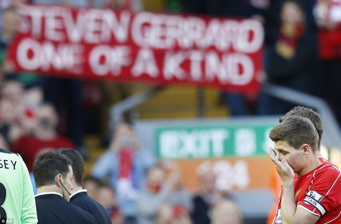 All over: Gerrard's last game ended in disappointment, but the Liverpool captain has enjoyed a glittering career at his beloved club