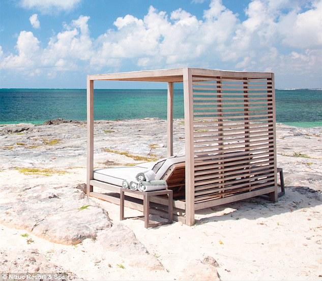 One of Nizuc's luxury cabanas ,overlooking the ocean