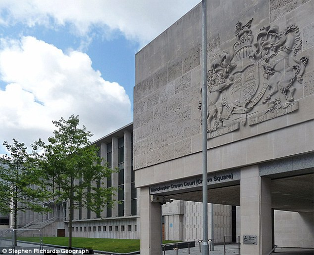 Trial: Manchester Crown Court (pictured) heard Grynhaus treated one of his victims like a 'play-thing'