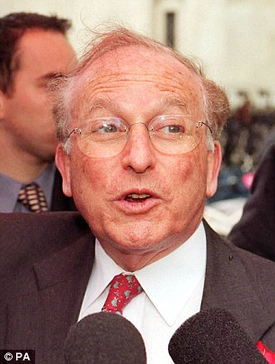 Revelations: Lord Janner, pictured in 2000, was re-appointed to a parliamentary committee last June despite being 'too ill' with dementia to be interviewed by police