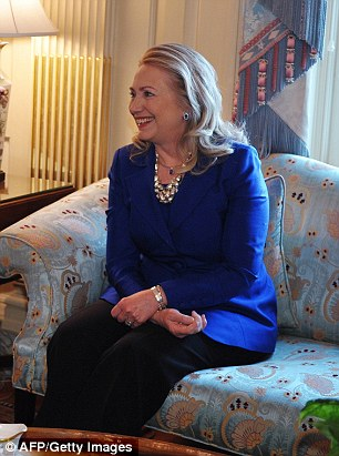 Image result for hillary with hands in lap