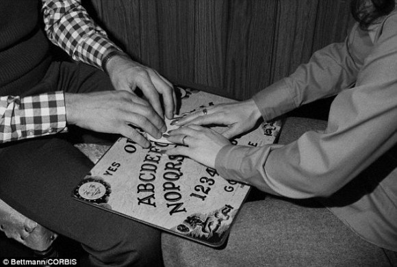 Rumour has it the game, which is said to have similar psychological effects as using a Ouija board (stock image), has ancient origins and that it's almost a rite of passage for Mexican children to play it
