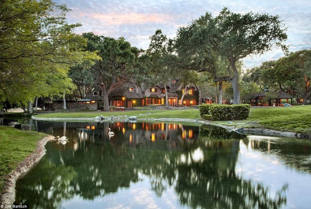 Renovated: Listed by Sotheby's and Hilton & Hyland, most of the telltale signs if its former famous owner have been erased, turning the 2700-acre property from a fun park into a grand compound