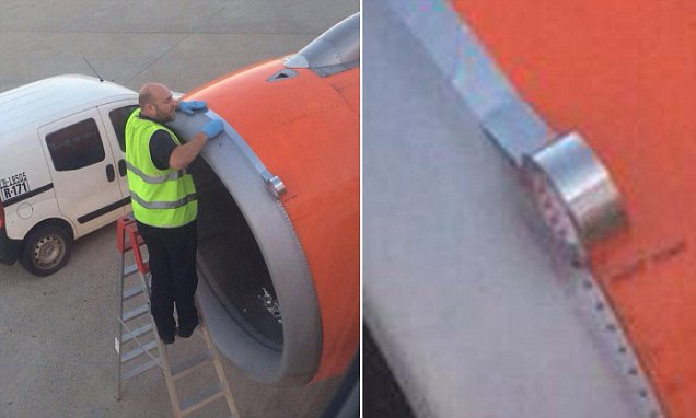 EasyJet Passenger Takes Photo Of Worker Using TAPE On