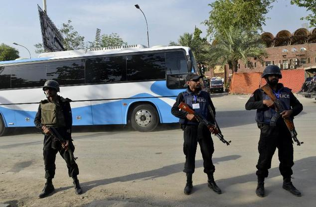 Image result for security in pakistan outside cricket match