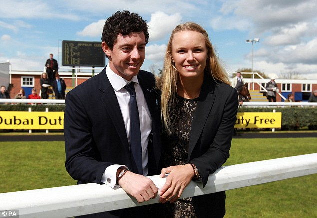 Rory McIlroy pictured with girlfriend Erica Stoll at Irish ...