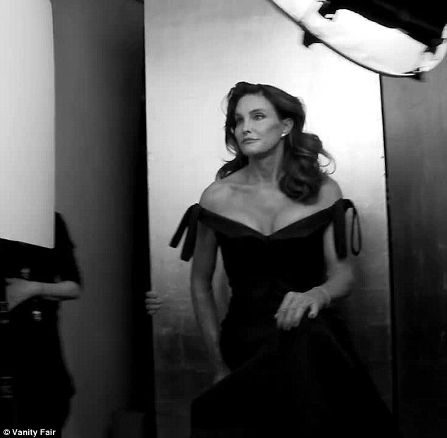 Behind the scene: Seen here in an outtake from a Vanity Fair video of the photoshoot in progress