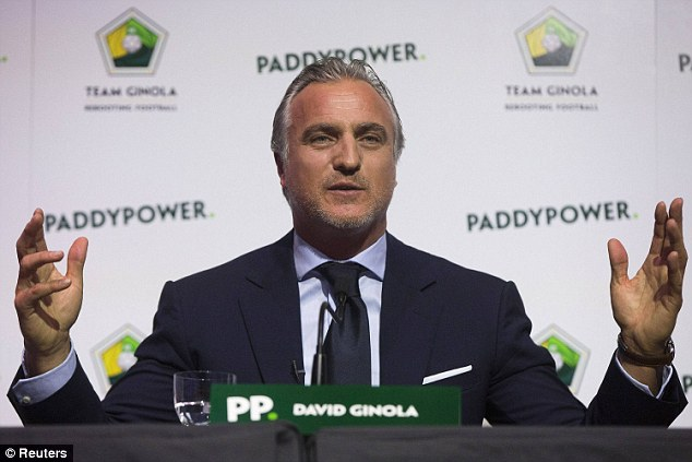 David Ginola, backed by Paddy Power, was set to stand against Blatter last week but withdrew his candidacy