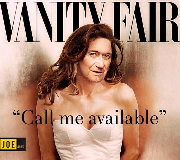 Iconic: The image has become so topical that former FIFA President Sepp Blatter's face was placed over Caitlyn's