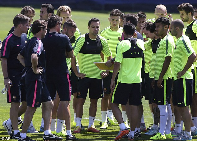 Xavi is preparing to make his final appearance for the club, which will come in the Champions League final