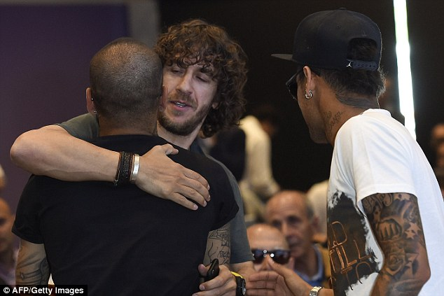 Past and present players including Carles Puyol, Dani Alves and Neymar attended the event on Wednesday