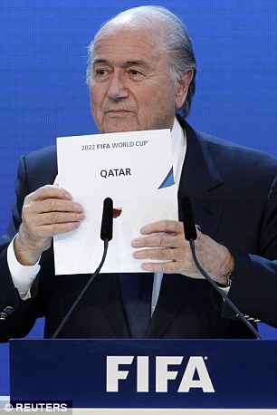 Sepp Blatter, who quit as FIFA president on Tuesday, announced the awarding of the 2022 World Cup to Qatar