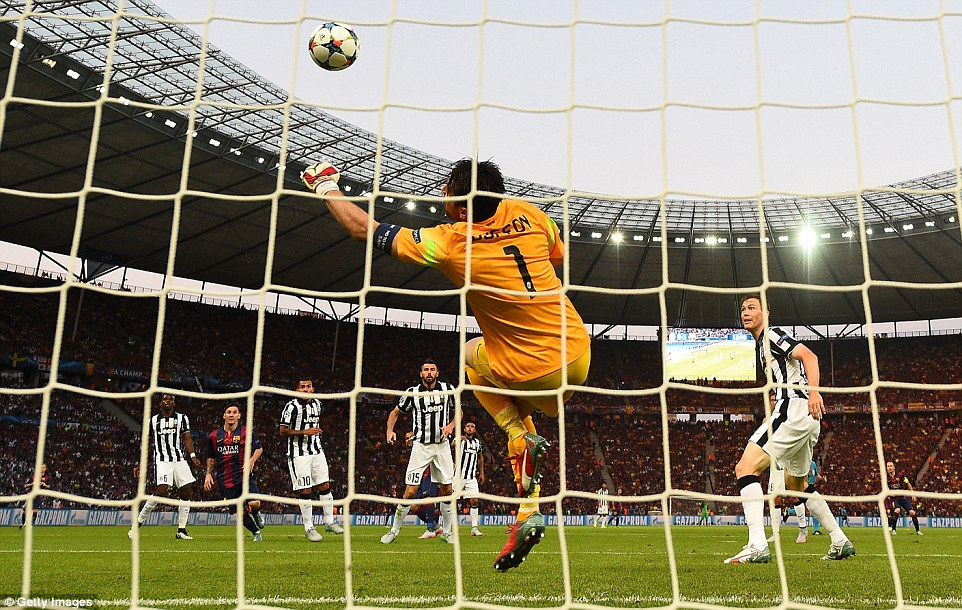 Juve were indebted to Buffon in the 13th minute, with the 37-year-old shifting his balance to make a world-class save to stop Dani Alves' shot