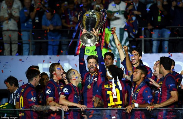 Image result for gerard pique champions league