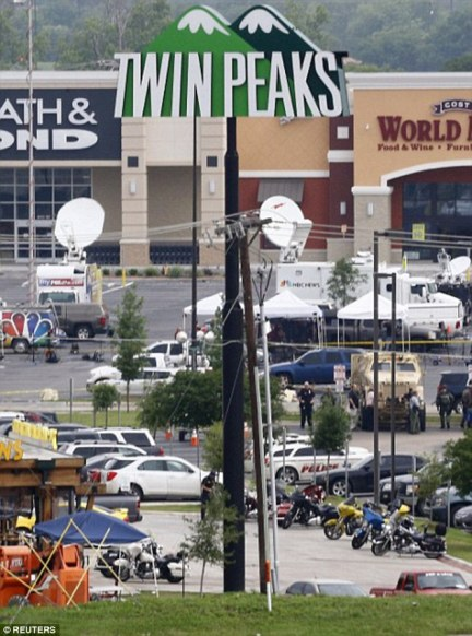 Clash: The bikers opened fire in the parking lot of the Twin Peaks restaurant in Waco, Texas
