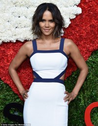 Age defying: Halle Berry, pictured here at the Golden Heart Awards, looks far younger than her 48 years