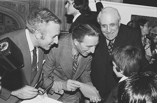 Welcome to Westminster: Labour MPs Greville Janner (left) and George Thomas (middle) with a party of schoolboys at the House of Commons in 1976