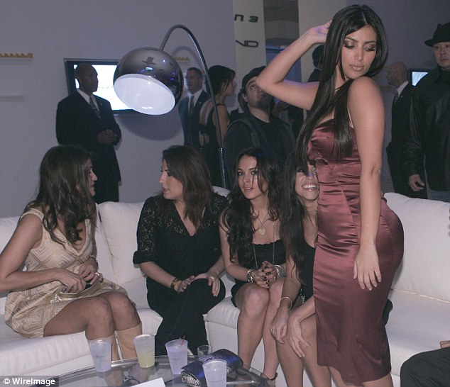 Before she was THAT famous: Kim was also known for partying with the likes of Lindsay Lohan circa 2006