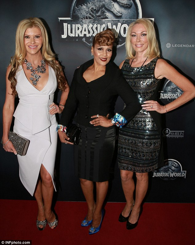 No fossils here! Gamble Breaux, Pettifleur Berenger and Janet Roach stepped out for the premiere of Jurassic World in Melbourne on Wednesday night