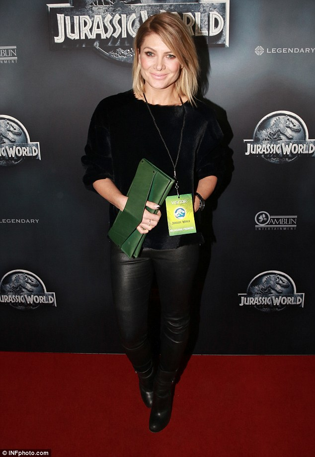 Nigh at the movies: Also at the premiere was former X Factor judge, Natalie Bassingthwaighte