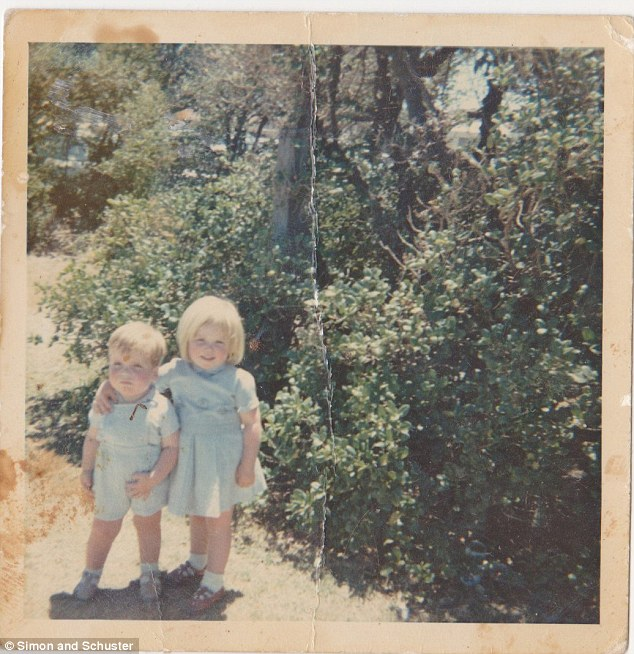 Stolen innocence: Katherine as a toddler, pictured with her arm around her younger brother, was first raped by her violent alcoholic father at the age of 13 and the abuse continued for almost 30 years during which she gave birth to four of her father's children, only escaping from him when she reached her forties