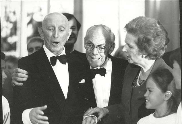 Stallwart: Lord Tonypandy, MP on his 80th birthday in 1989 with Prime Minister Margaret Thatcher
