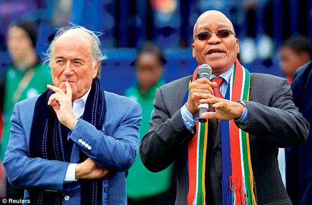 The 79-year-old (left) has received close support from various African and Asian football federations