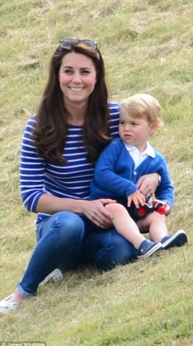 George was the centre of attention this afternoon with his mother The Duchess of Cambridge as the royals enjoyed a family jaunt to the Festival of Polo at the Beaufort Polo Club in Gloucestershire