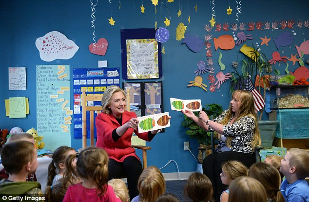 Today:Clinton speaks during a forum on early childhood education at the YMCA in Rochester