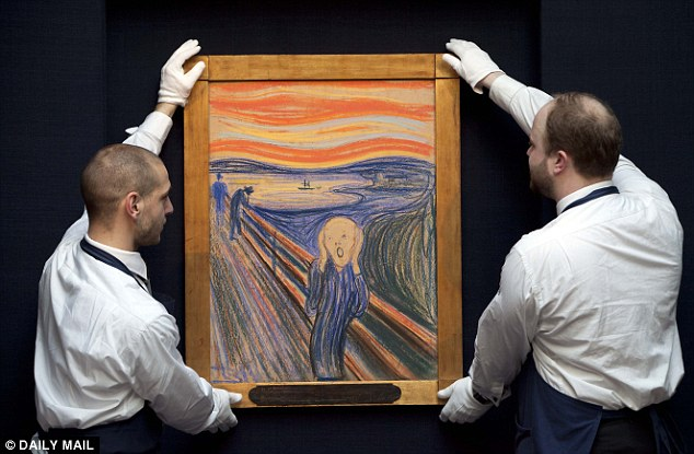 Norwegian expressionist Edvard Munch's scream, shown above, was ranked as one of the most creative paintings ever produced by the computer algorithm. It sold for $120 million when it was auctioned in 2012