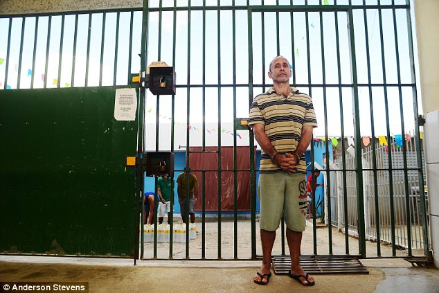 Prison life: Negromonte shares a cell with 33 other prisoners at the Desembargador Augusto Duque prison, where 997 criminals are crammed into a jail with capacity for just 144. He has asked to work in the kitchen