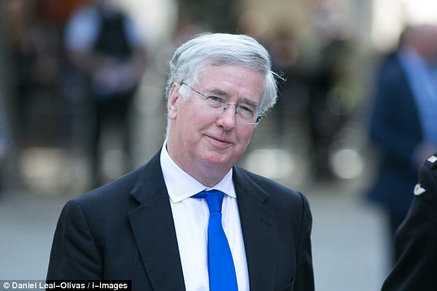 Defence Secretary Michael Fallon, who visited the airbase the Typoons were scrambled from, said: 'This is absolutely not a game. Britain is standing tall. We mean business'