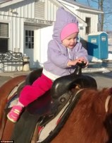 Untreated: Hope Delozier,1 (seen here in a Facebook photo) died in March from an untreated ear infection