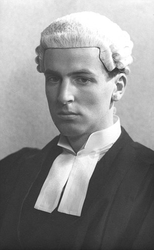 Jeremy Nicolas Hutchinson, pictured soon after being called to the Bar in 1939