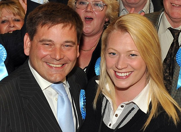 Ms Fuller falsely accused Tory MP Andrew Bridgen, left, of groping her following a night out in Westminster, an allegation which led to his arrest and the collapse of is marriage to is wife Jackie, right