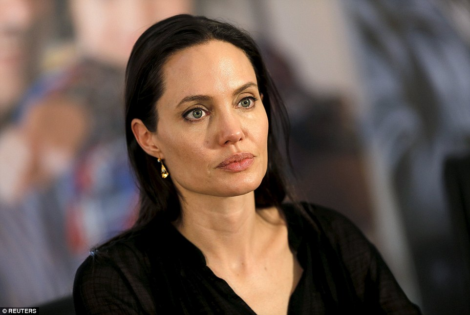 Angelina Jolie's visit comes as the war in neighbouring Syria rages into its fifth year