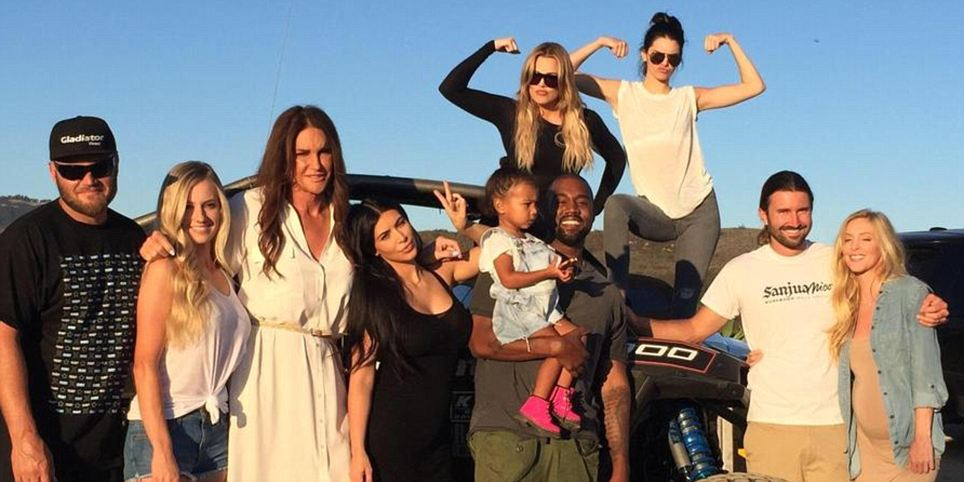 Caitlyn Jenner and the Kardashian clan unite with Kanye West on Father's Day