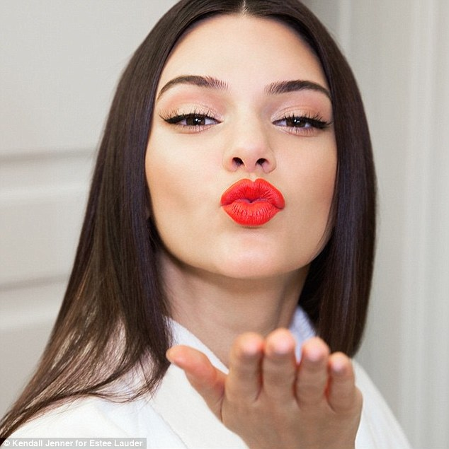 Pout perfection: Kendall and Estee Lauder announced today that the model created a limited-edition lipstick color for the brand