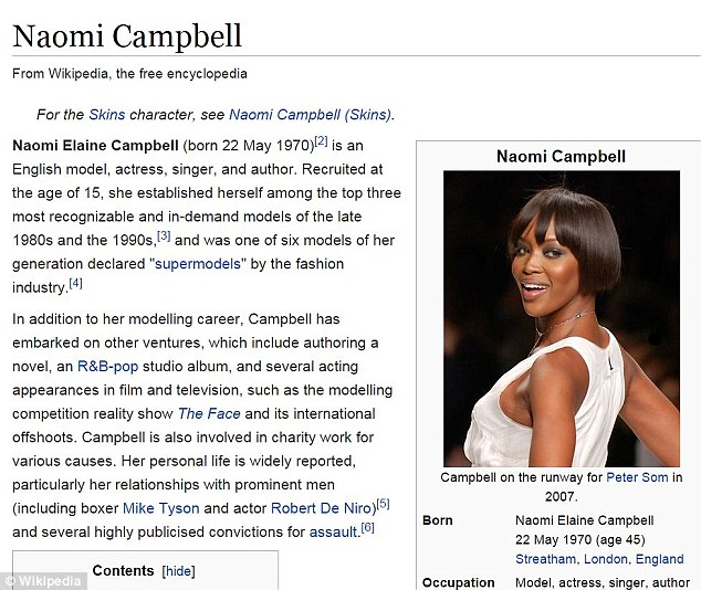 Edited:Sunshine Sachs worked to remove words that described parts of Campbell's biography on Wikiepdia in an unflattering light