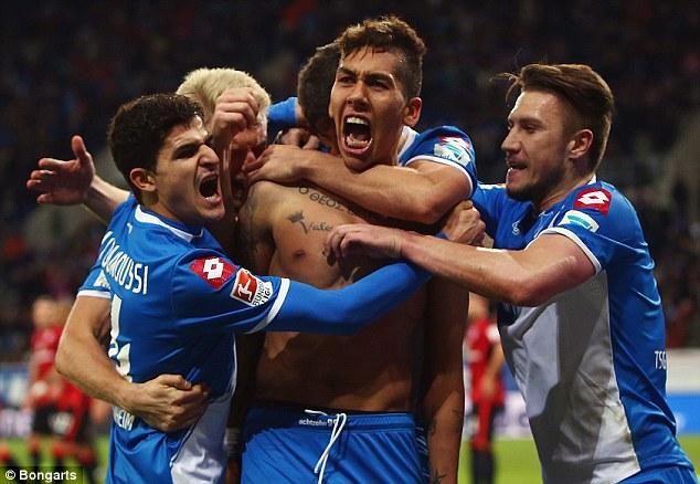 Image result for Roberto Firmino & Gylfi Sigurdsson Hoffenheim