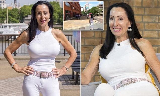 Stephanie Arnott 58 takes to London streets to test beauty