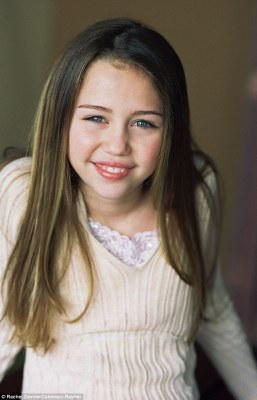 Before she was Miley:Destiny Hope Cyrus, 11, pictured in a 2004 modelling shoot