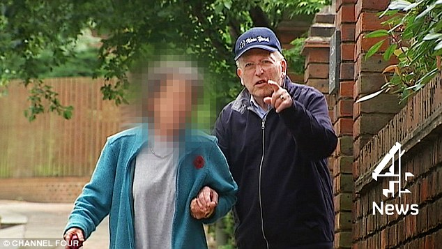 Confused:Lord Janner pictured outside his house in London in 2014. It is said he now needs round the clock care as he suffers from advanced dementia