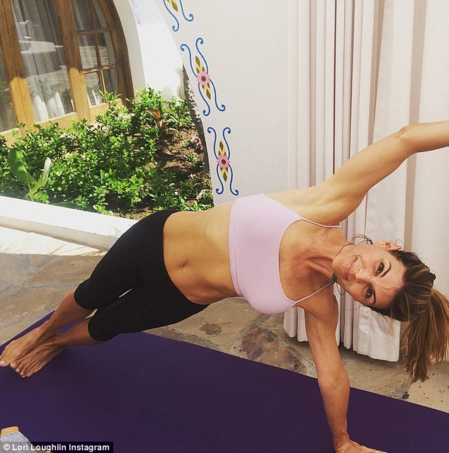 Lori Loughlin Shows Off Her Toned Abs In Preparation For
