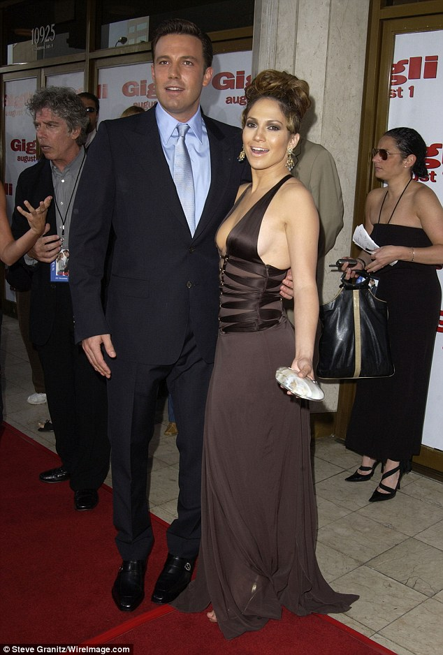Bennifer One: Ben and Jennifer Lopez (pictured in 2003) were the first 'Bennifer' that ever walked the red carpet and in the beginning Ben seemed willing to go along with JLo's superstar ways